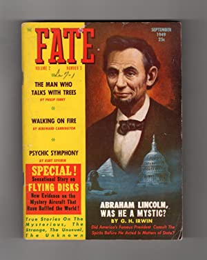 Fate Magazine - True Stories of the Strange and The Unknown. September, 1949. Mysterious Flying ...
