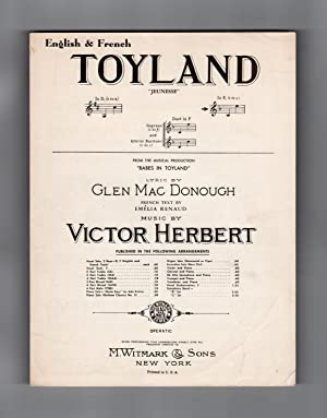Toyland - Vintage Victor Herbert - Glen MacDonough - Emelia Renaud Sheet Music. From 'Babes in To...
