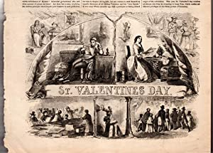 St. Valentine's Day Wood Engraving, 1856. From: Ballou, Maturin M.