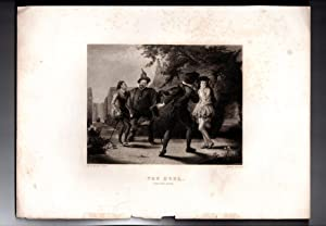 """The Duel - Steel Engraving, 1870, from """"Twelfth Night"""", from the Virtue & Yorston &..."""
