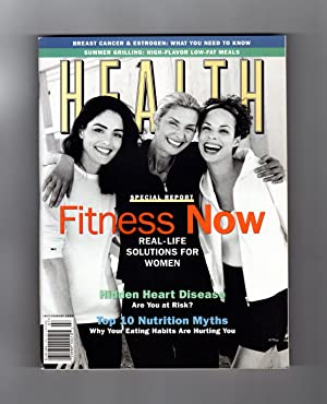 Health Magazine - July- August, 1998. Top 10 Nutrition Myths; Hidden Heart Disease; Breast Cancer...