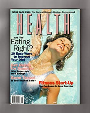 Health Magazine - May - June, 1998. Maya Kiener Cover. Germ Threat; 10 Diet Improvements; Natural...