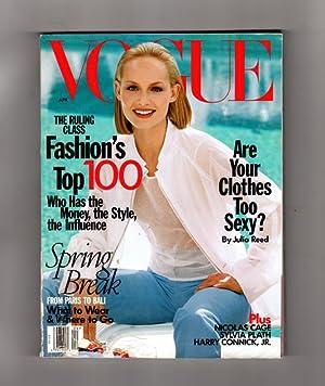 Vogue Magazine - April, 1998. Amber Valletta: Anna Wintour (Editor