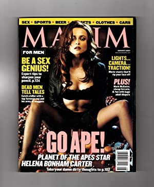 Maxim Magazine - August, 2001. Helena Bonham: Keith Blanchard (Editor-in-Chief)