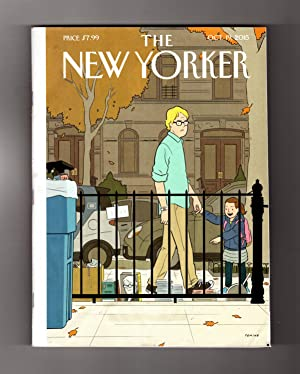 The New Yorker - October 19, 2015. Adrian Tomine Cover, 'Recognition'. Ben Marcus Fiction, 'Cold ...