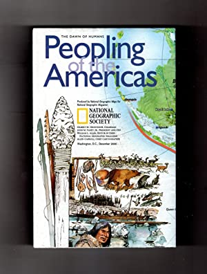 National Geographic Map & Supplement, 'Peopling of the America (The Dawn of Humans)' and 'The Ame...