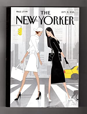 The New Yorker - September 21, 2015. Greg Foley Art Deco Cover; Amos Oz Fiction; Imam's Curse; Jo...