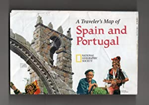National Geographic Map & Supplement, 'A Traveler's Map of Spain and Portugal' From the December,...