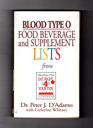 Blood Type O Food, Beverage and Supplement Lists. From Eat Right For Your Type