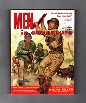 Men in Adventure - February, 1960. Vintage Men's Interest Pulp Magazine. Treasure Diving; Matsin ...