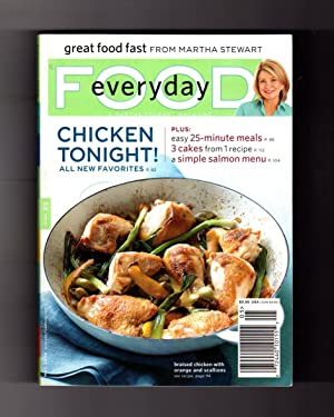 Everyday Food - May, 2009. A Martha Stewart Magazine. Christie Brinkley Rear Cover. Chicken 6 Way...