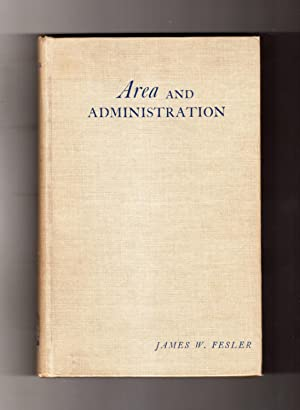 Area and Administration. 1949, University of Alabama Press. First Edition