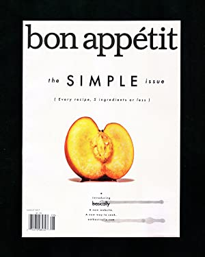 Bon Appétit - August, 2017. 'The Simple Issue'. New 'Basically' Website; Eat a Peach; Sun, Surf &...