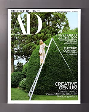 Architectural Digest - October, 2017. Tory Burch - Westerly Wonderland; Hot Lighting; Radical Gar...