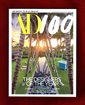 Architectural Digest - January, 2018. Designers of the Year; Kona, Hawaii Pool by Pappas (cover);...
