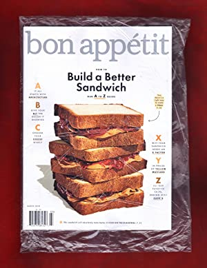 Bon Appétit - March, 2018. In Publisher's Shipping Bag. Build a Better Sandwich; Seafood; Wine; R...