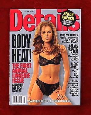 Details Magazine - January, 1999. Rebecca Romijn: Michael J. Caruso