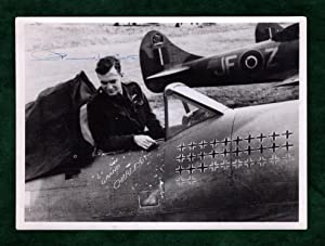 Pierre Henri Clostermann, World War II Free French Fighter Ace. Signed Photograph, In Plane, a Ha...