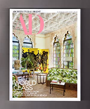 Architectural Digest - May, 2018. World Class: Jaipur, Comporta, Palm Beach. Cara Delavingne; Art...