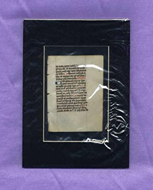 Medieval Monastery Scriptorium - Double Sided Leaf;: anonymous]