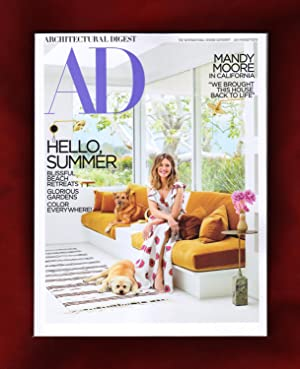 Architectural Digest - July-August, 2018. Mandy Moore in California; Beach Retreats; Glorious Gar...