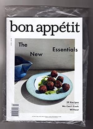 Bon Appétit - April, 2018. In Publisher's Shipping Bag. The New Essentials. 29 Recipes We Can't C...