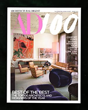 Architectural Digest - January, 2019. Top 100 Architects and Designers of the Year. The Maja Hoff...