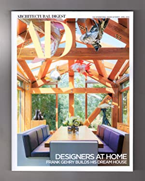 Architectural Digest - April, 2019. Designers at Home Issue. Frank Gehry; Michelle Nussbaumer; Ke...