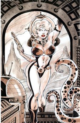Original Butch Burcham Spacegirl Sci-fi Comic Art Painting, Good Girl / Page 4 of the Rana ...