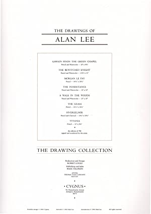 The Drawings of Alan Lee / The Drawing Collection / Cygnus portfolio; signed, numbered ...