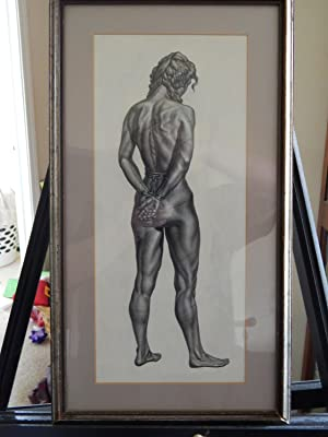 Original Slave - BDSM Pencil Drawing By Science Fiction Illustrator O. Raymond Sowers: Sowers, O. ...