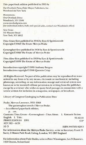 The Gormenghast Novels - 1995 Overlook First
