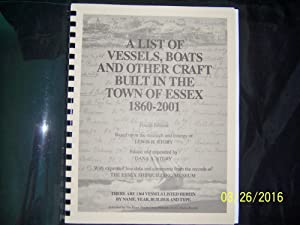 A List of the Vessels, Boats and: Story, Lewis H.