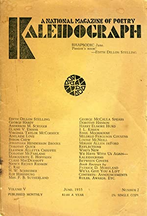 Kaleidograph: A National Magazine of Poetry #5.2: Montgomery, Whitney &