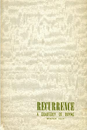 Recurrence: A Quarterly of Rhyme #4.15 (Winter: Jacoby, Grover (ed.);