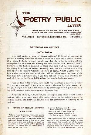 The Poetry Public Letter #2.6 (November-December 1954): Holmes, Lawrence R.