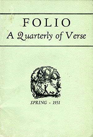 Folio: A Quarterly of Verse #7.1 (Spring 1951)
