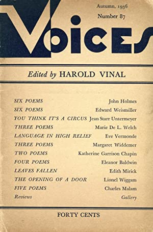 Voices #87 (Autumn 1936)