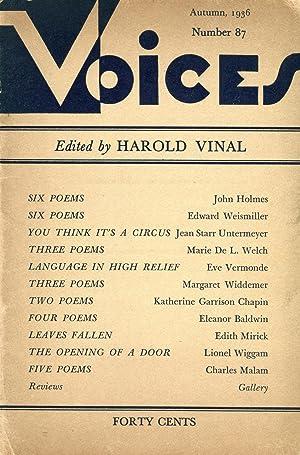 Voices #87 (Autumn 1936): Vinal, Harold (ed.);