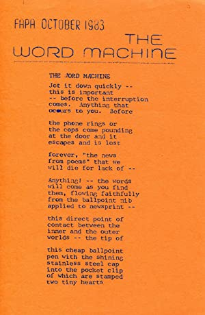 GAFIA Poetry Leaflet #12 (The Word Machine) (October 1983)