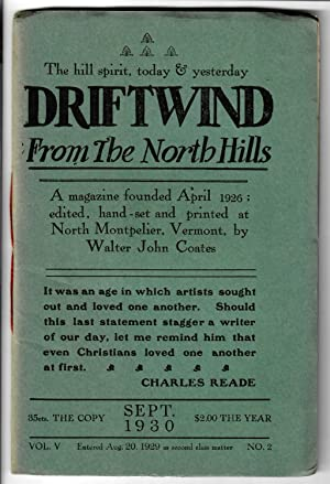 Driftwind, From the North Hills #5.2 (September: Coates, Walter John
