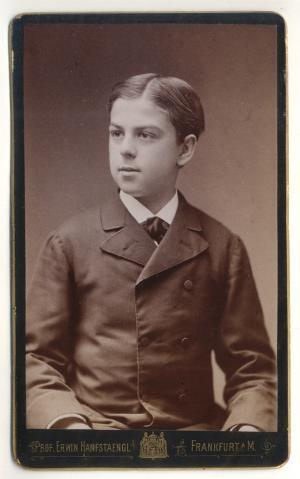 CDV Carte De Visite Foto Junger Mann Erwin Hanfstaengl Um 1880 Von OJ Frankfurt A Main