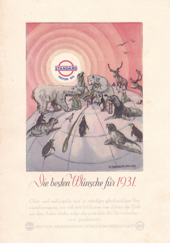 Die besten Wünsche für 1931.: Deutsch-Amerikanische Petroleum-Gesellschaft /