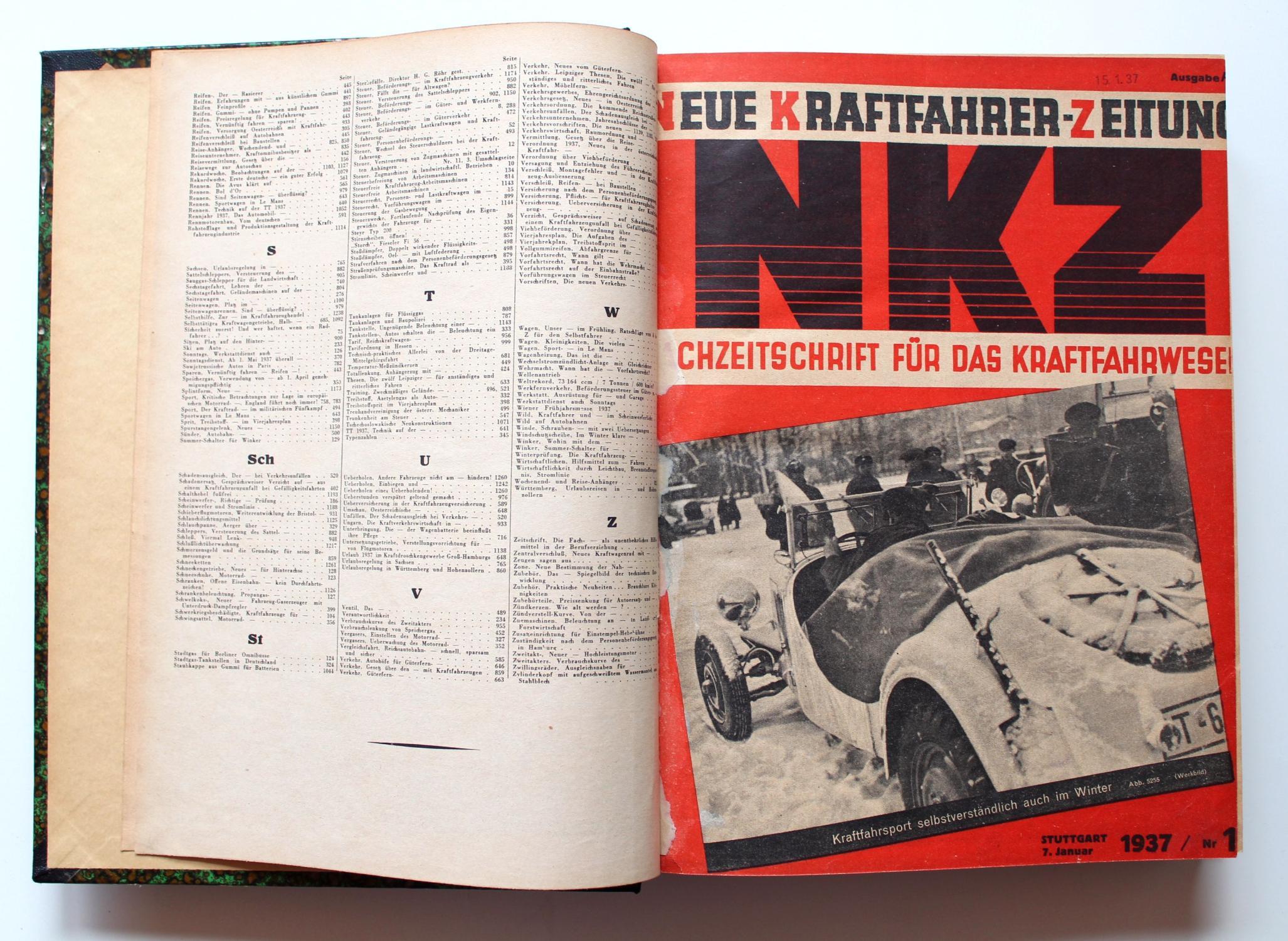 Pariser Salon Professioneller Verkauf Nkz Neue Kraftfahrer Zeitung 1936 Nr.43 Lastwagen Und Omnibusse