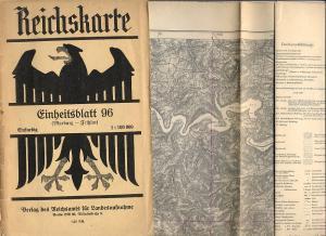Reichskarte (1 cm-Karte) 1:100.000 Einheitsblatt 96 (Marburg: Reichsamt für Landesaufnahme