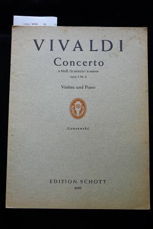 Zwei Konzerte für Violine, Streichorchester und Cembalo.: Vivaldi, Antonio/Lenzewski, Gustav.