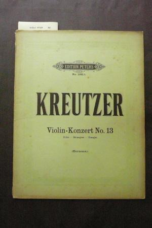 Violin-Konzert No. 13 - D dur. Edition Peters No. 1091.