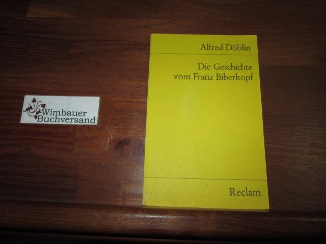 Die Geschichte vom Franz Biberkopf : Hörspiel nach d. Roman