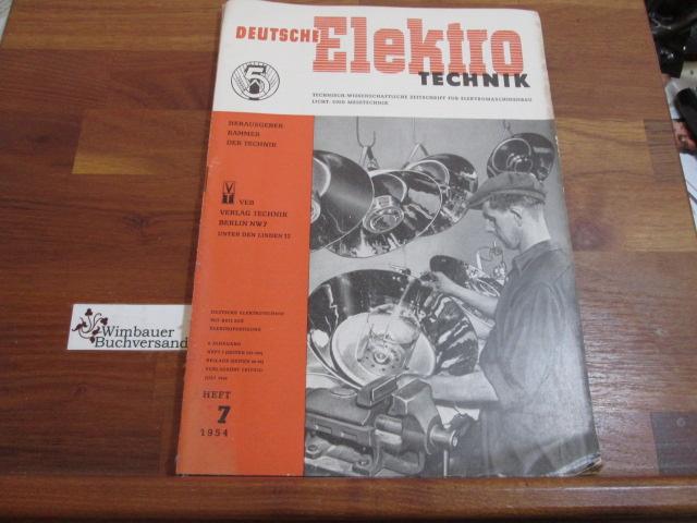 Deutsche Elektrotechnik. Heft 7 1954: Kammer der Technik