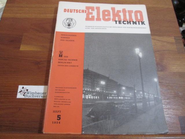 Deutsche Elektrotechnik. Heft 5 1954: Kammer der Technik